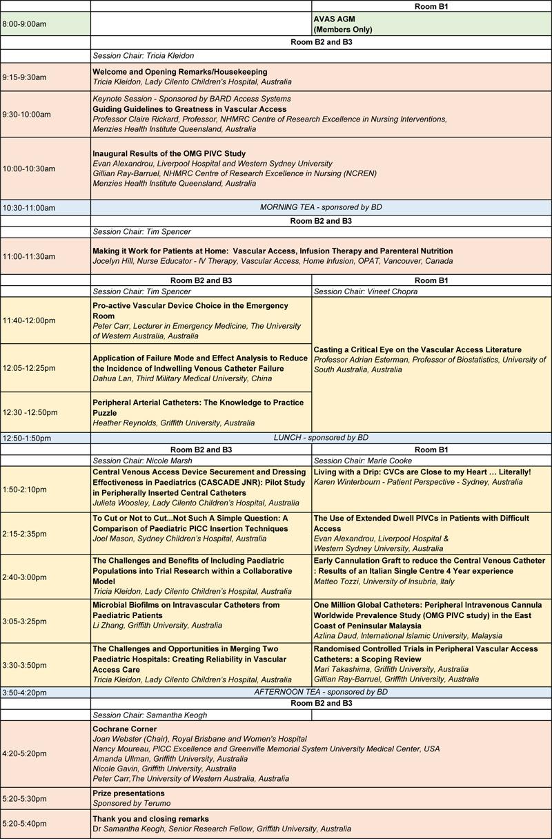 Saturday Program as at 25 April 16