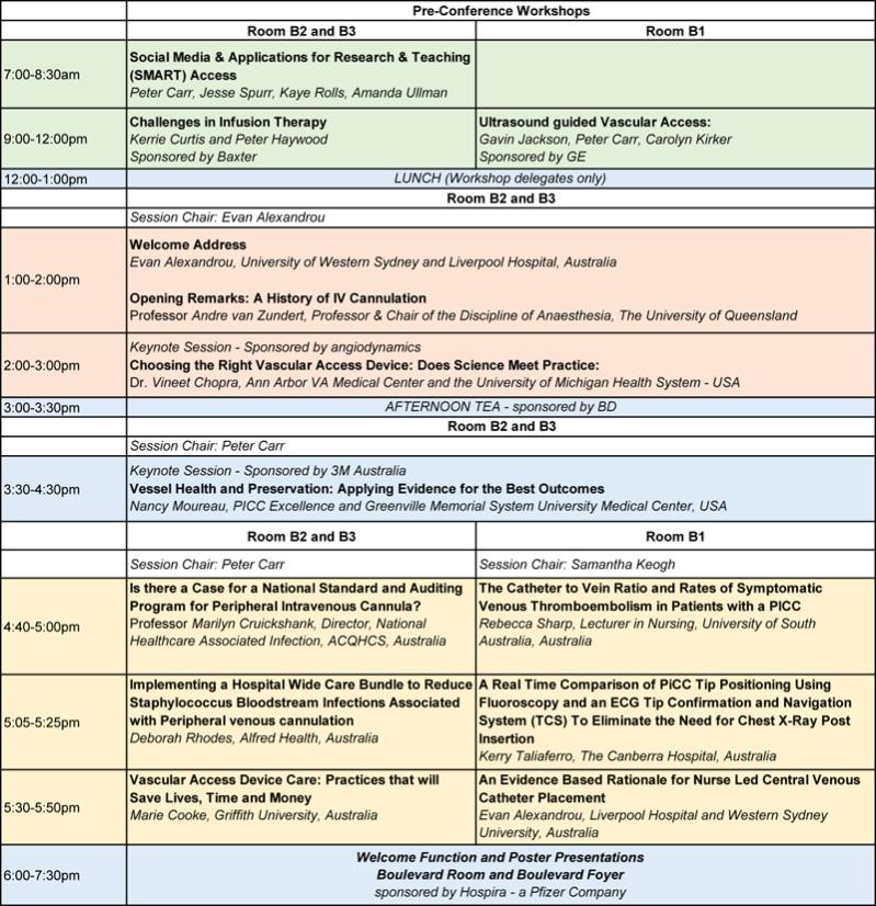 Friday Program as at 23 April 16